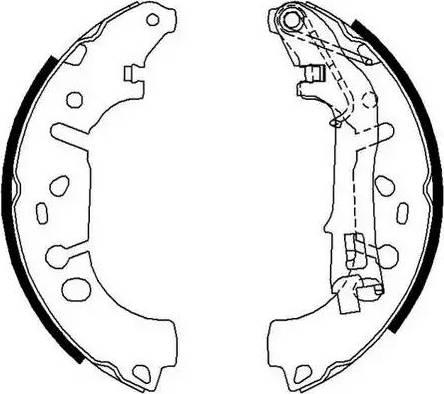 Ferodo FSB682 - Jeu de freins, freins à tambour www.widencarpieces.com
