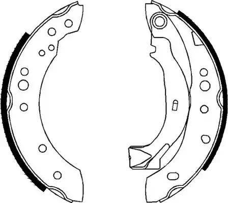 Ferodo FSB626 - Jeu de freins, freins à tambour www.widencarpieces.com