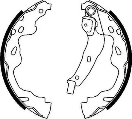 Ferodo FSB672 - Jeu de freins, freins à tambour www.widencarpieces.com