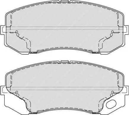 Ferodo FVR4314 - Kit de plaquettes de frein, frein à disque www.widencarpieces.com