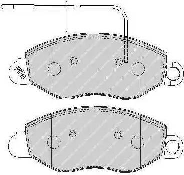 Ferodo FVR1616 - Kit de plaquettes de frein, frein à disque www.widencarpieces.com