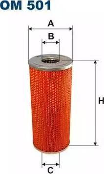 Filtron OM501 - Filtre, système hydraulique de travail www.widencarpieces.com