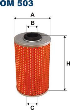 Filtron OM503 - Filtre hydraulique, direction www.widencarpieces.com