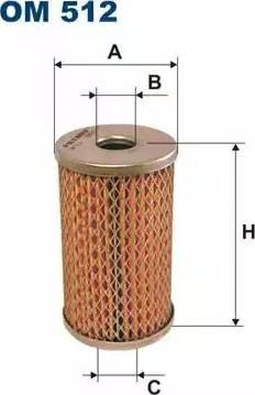 Filtron OM512 - Filtre, système hydraulique de travail www.widencarpieces.com