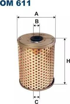 Filtron OM611 - Filtre, système hydraulique de travail www.widencarpieces.com