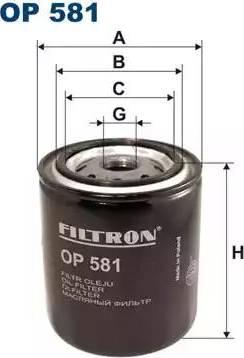 Filtron OP581 - Filtre, système hydraulique de travail www.widencarpieces.com