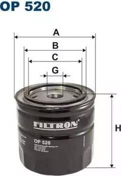 Filtron OP520 - Filtre, système hydraulique de travail www.widencarpieces.com