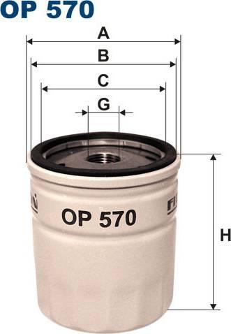 Filtron OP570T - Filtre à huile www.widencarpieces.com
