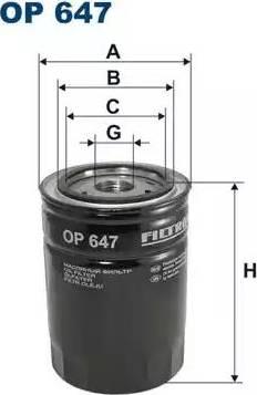 Filtron OP647 - Filtre, système hydraulique de travail www.widencarpieces.com