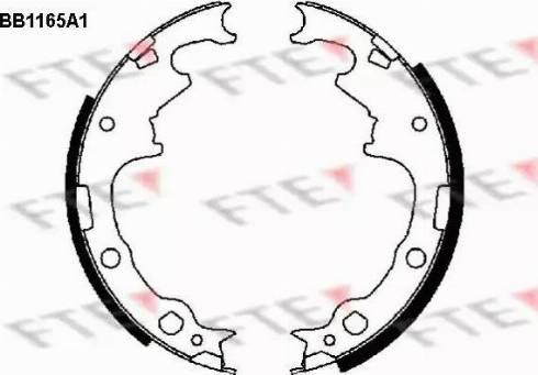 FTE BB1165A1 - Jeu de freins, freins à tambour www.widencarpieces.com