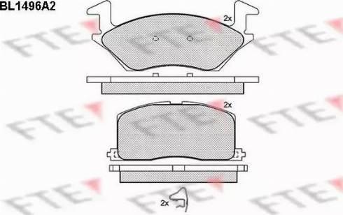 FTE BL1496A2 - Kit de plaquettes de frein, frein à disque www.widencarpieces.com