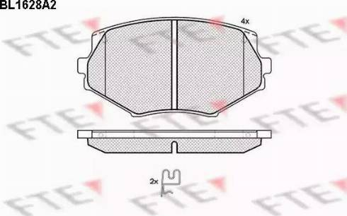 FTE BL1628A2 - Kit de plaquettes de frein, frein à disque www.widencarpieces.com