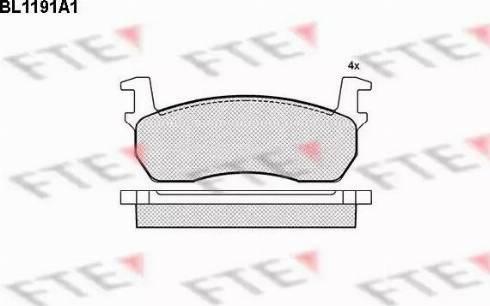 FTE BL1191A1 - Kit de plaquettes de frein, frein à disque www.widencarpieces.com