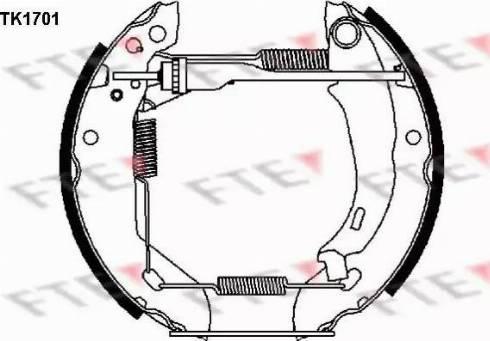 FTE TK1701 - Jeu de freins, freins à tambour www.widencarpieces.com