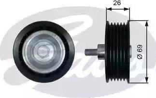 Gates T36456 - Poulie renvoi/transmission, courroie trapézoïdale à nervures www.widencarpieces.com