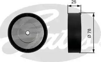 Gates T36450 - Poulie renvoi/transmission, courroie trapézoïdale à nervures www.widencarpieces.com