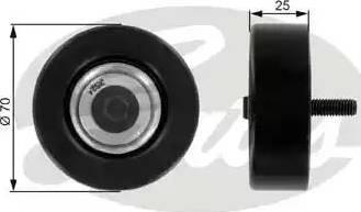 Gates T36175 - Poulie renvoi/transmission, courroie trapézoïdale à nervures www.widencarpieces.com