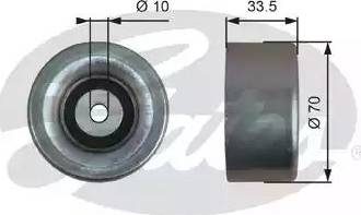 Gates T36173 - Poulie renvoi/transmission, courroie trapézoïdale à nervures www.widencarpieces.com