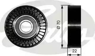 Gates T36252 - Poulie renvoi/transmission, courroie trapézoïdale à nervures www.widencarpieces.com