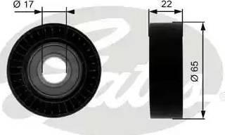 Gates T36257 - Poulie renvoi/transmission, courroie trapézoïdale à nervures www.widencarpieces.com