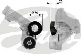 Gates T38444 - Tendeur de courroie, courroie trapézoïdale à nervures www.widencarpieces.com