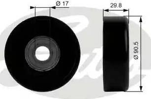 Gates T38001 - Poulie renvoi/transmission, courroie trapézoïdale à nervures www.widencarpieces.com