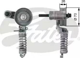 Gates T38344 - Tendeur de courroie, courroie trapézoïdale à nervures www.widencarpieces.com