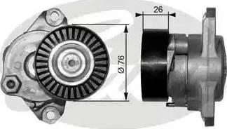 Gates T38319 - Tendeur de courroie, courroie trapézoïdale à nervures www.widencarpieces.com