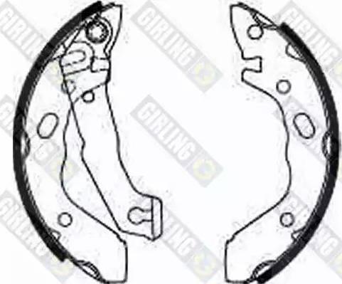 Girling 5185689 - Jeu de freins, freins à tambour www.widencarpieces.com