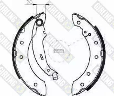 Girling 5185341 - Jeu de freins, freins à tambour www.widencarpieces.com