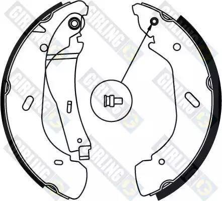 Girling 5186904 - Jeu de freins, freins à tambour www.widencarpieces.com