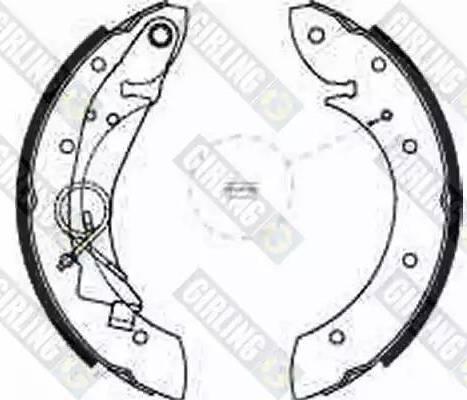 Girling 5186351 - Jeu de freins, freins à tambour www.widencarpieces.com