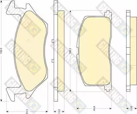Girling 6108789 - Kit de plaquettes de frein, frein à disque www.widencarpieces.com