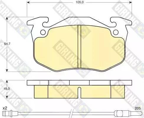 Girling 6103083 - Kit de plaquettes de frein, frein à disque www.widencarpieces.com