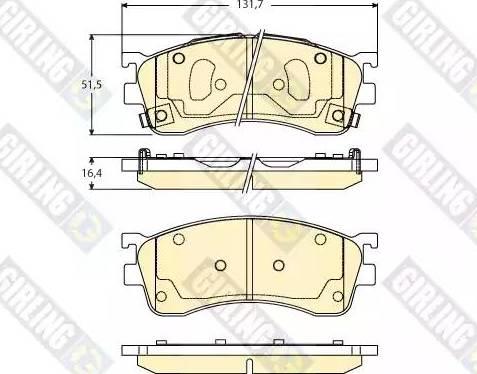Girling 6133046 - Kit de plaquettes de frein, frein à disque www.widencarpieces.com