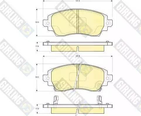 Girling 6133339 - Kit de plaquettes de frein, frein à disque www.widencarpieces.com