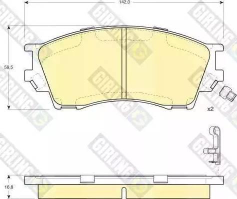 Girling 6132309 - Kit de plaquettes de frein, frein à disque www.widencarpieces.com