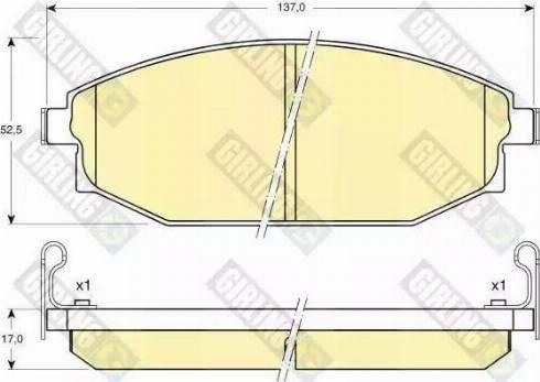 Girling 6132329 - Kit de plaquettes de frein, frein à disque www.widencarpieces.com