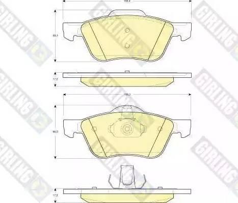 Girling 6132722 - Kit de plaquettes de frein, frein à disque www.widencarpieces.com