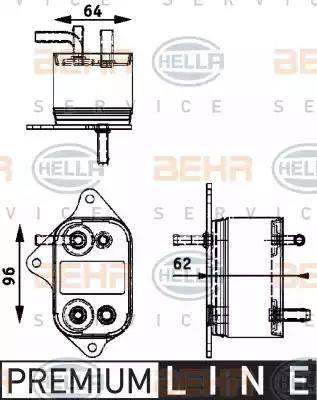 HELLA 8MK376745011 - Refroidisseur de carburant www.widencarpieces.com