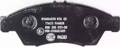 HELLA PAGID 8DB 355 011-081 - Kit de plaquettes de frein, frein à disque www.widencarpieces.com