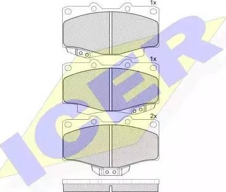 Icer 141007 - Kit de plaquettes de frein, frein à disque www.widencarpieces.com