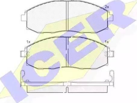 Icer 141266 - Kit de plaquettes de frein, frein à disque www.widencarpieces.com