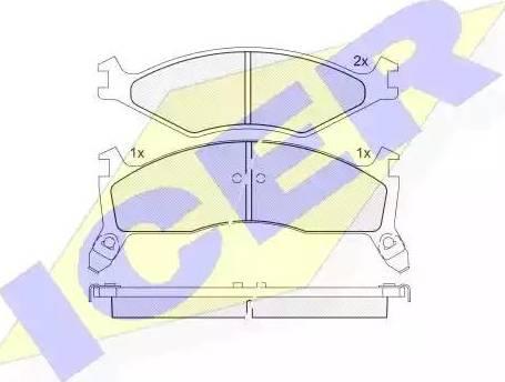 Icer 141270 - Kit de plaquettes de frein, frein à disque www.widencarpieces.com
