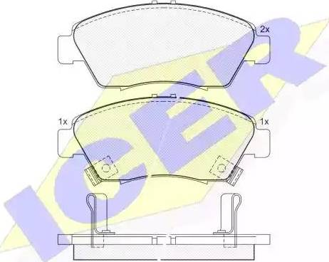 Icer 180959 - Kit de plaquettes de frein, frein à disque www.widencarpieces.com