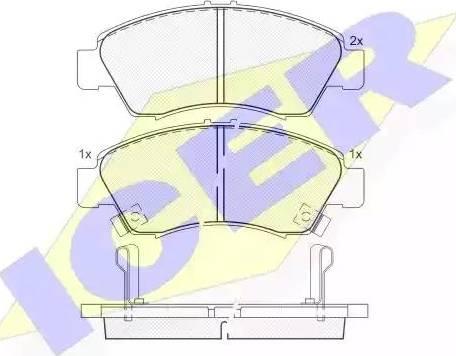Icer 180958 - Kit de plaquettes de frein, frein à disque www.widencarpieces.com