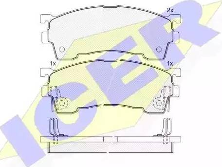 Icer 180971-204 - Kit de plaquettes de frein, frein à disque www.widencarpieces.com