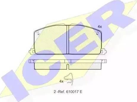 Icer 180462 - Kit de plaquettes de frein, frein à disque www.widencarpieces.com