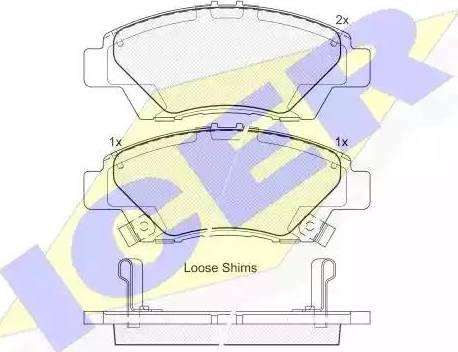 Icer 181906 - Kit de plaquettes de frein, frein à disque www.widencarpieces.com
