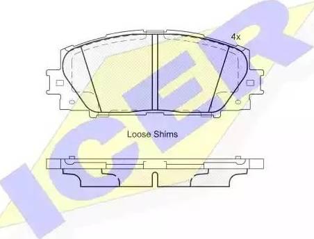 Icer 181938 - Kit de plaquettes de frein, frein à disque www.widencarpieces.com